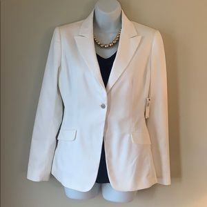 New Tahari white blazer